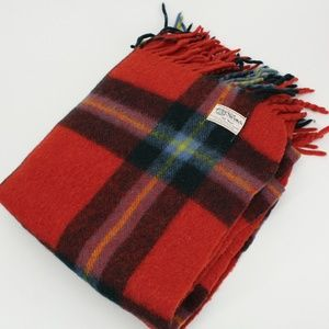 Vintage Horner Red Plaid Wool Blanket